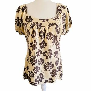 Anthropologie Guinevere Puff Sleeve Top